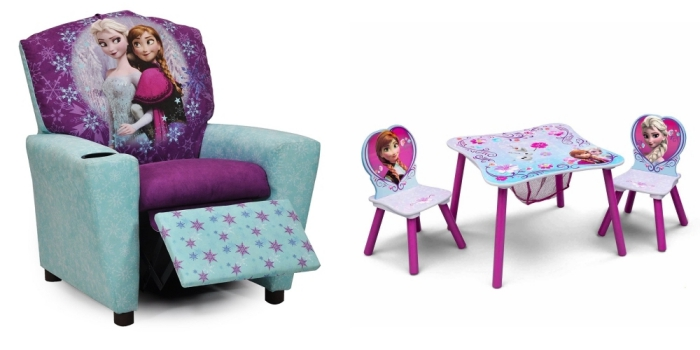 trendy decoration reine des neiges meubles design frozen petit fauteuil en bleu et violet with. Black Bedroom Furniture Sets. Home Design Ideas