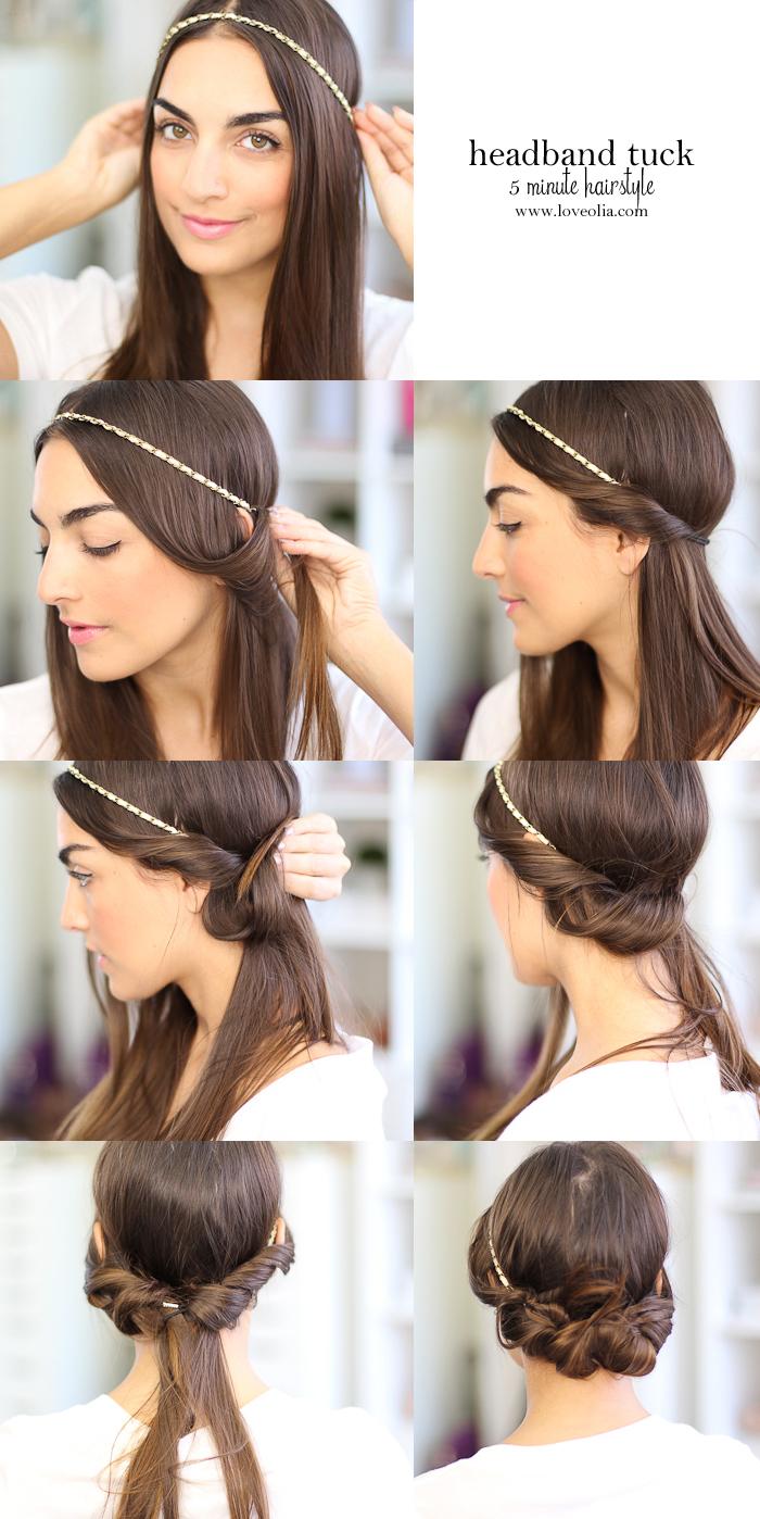 comment réaliser un chignon facile et romantique à l'aide d'un headband