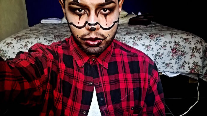maquillage homme clown pour halloween