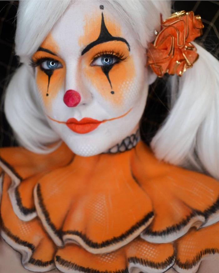 modele maquillage femme clown pour carnaval