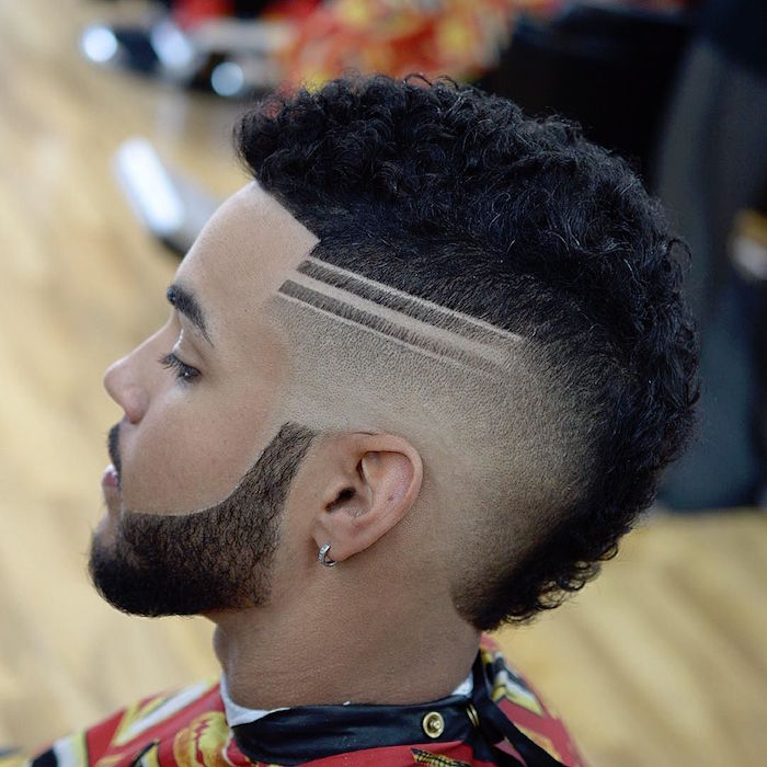 coiffure homme degradé americain coupe afro