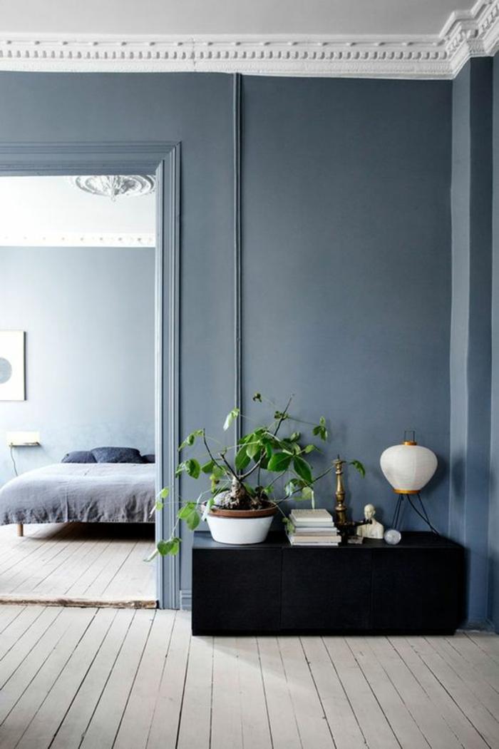 bleu canard chambre couleur bleu gris deco salon bleu canard avec plafond blanc aux frises