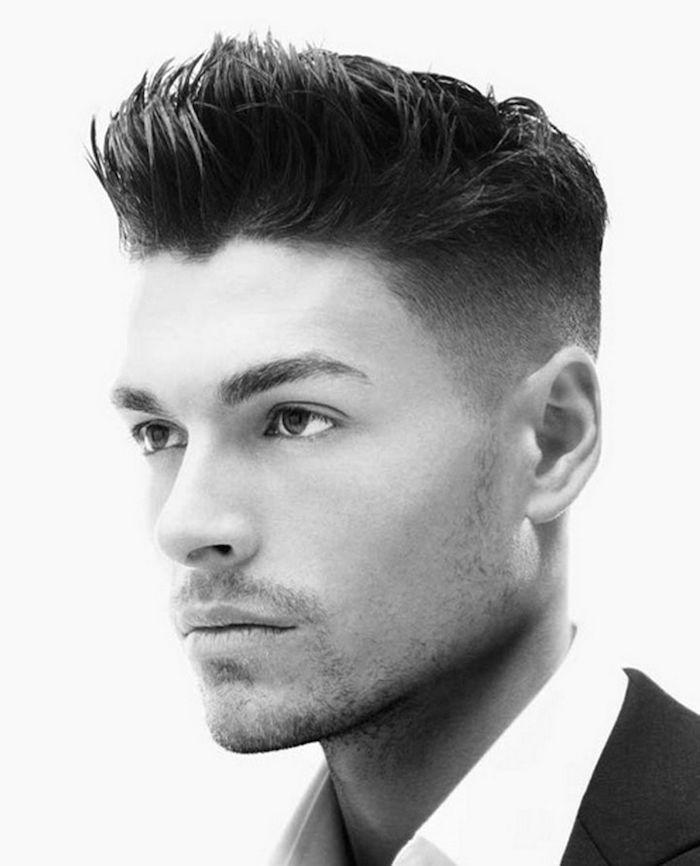 dégradé progressif coiffure homme travail style