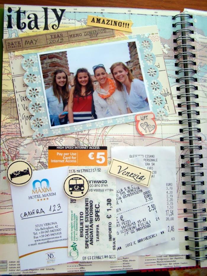 album photo personnalisé, comment organiser ses photos de voyage, livres voyage en italie avec photos et reçus