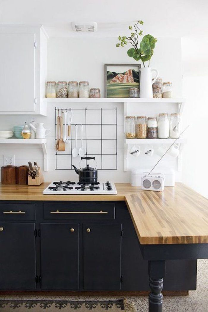 cuisine ikea noire et blanche style scandinave