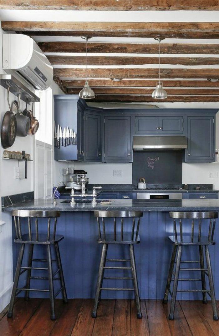 1001 id es pour une cuisine bleu canard les int rieurs qui font un grand effet - Les trois suisses meubles ...