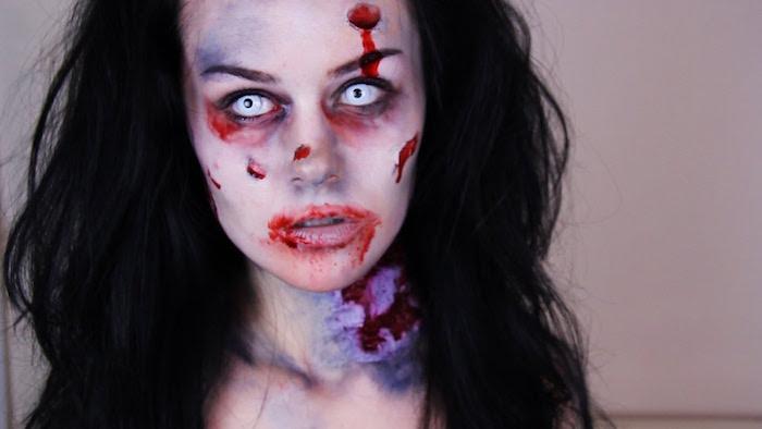 femme halloween maquillage horreur zombie
