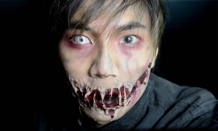 maquillage zombie homme walking dead