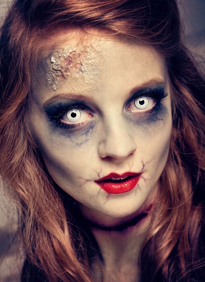 mort vivant zombie maquillage déguisement halloween