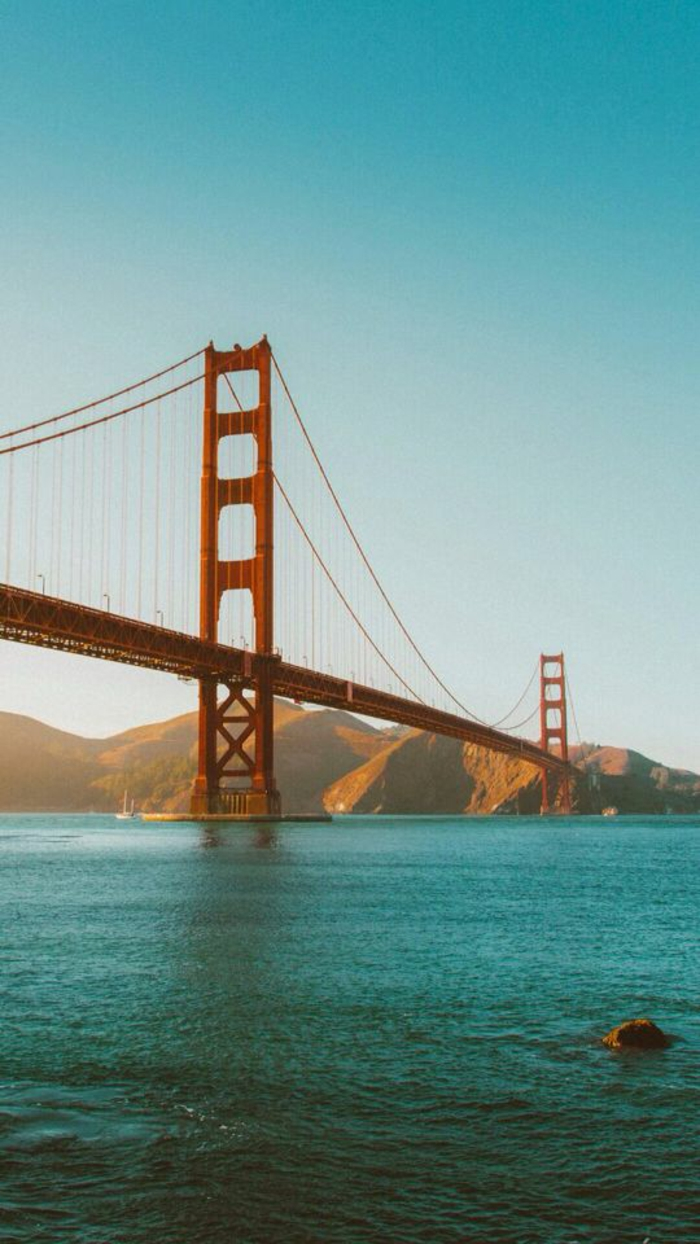 Original fond d écrans iphone idée quel fond decran choisir San Francisco pont rouge