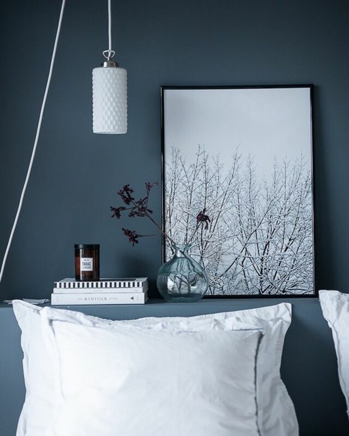 Deco chambre adulte bleu gris - Chambre bleu gris blanc ...
