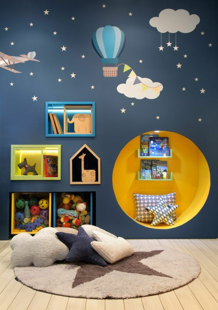 Awesome decoration jaune de chambre de bebe contemporary for Decor chambre enfant