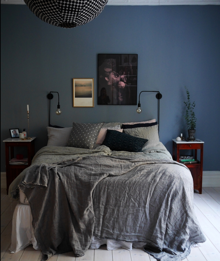 deco chambre adulte bleu gris. Black Bedroom Furniture Sets. Home Design Ideas