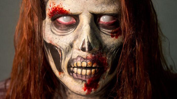 maquillage zombie halloween deguisement mort vivant