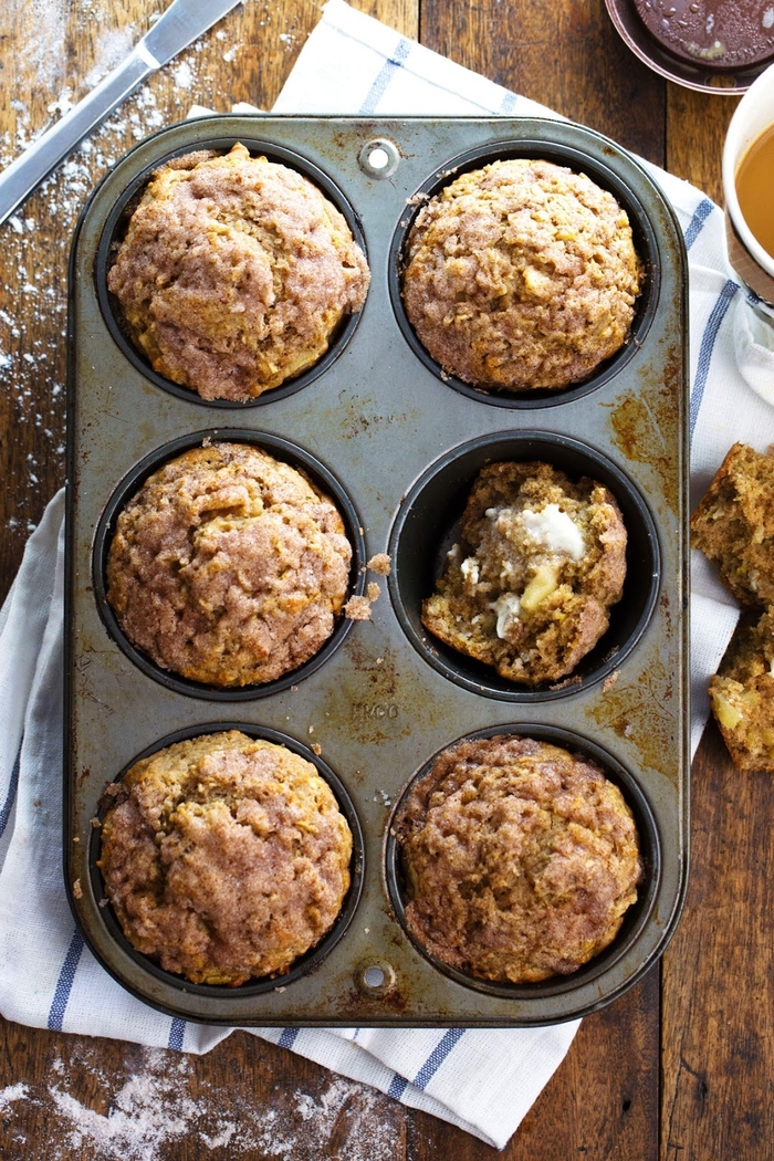 la recette octobre parfaite pour un brunch gourmand, recette de muffins à la cannelle au goût de beugnets