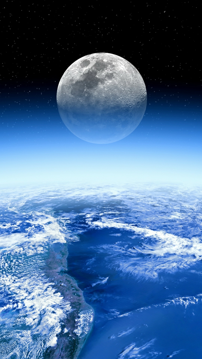Photo fond d écran pour iphone 5 s choisir le plus beau fons d écran la terre et la lune magnifique image de haut