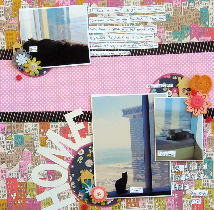 art du papier, collage sur papier avec photos et rubans adhésifs, activité manuelle pour faire une décoration en papier