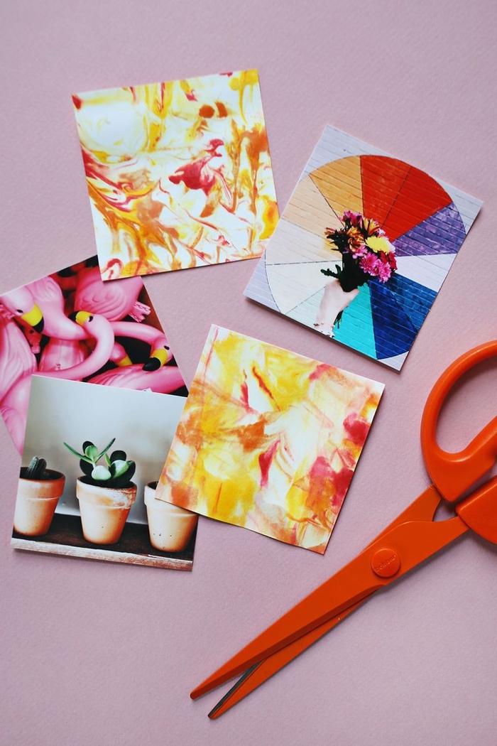 une technique originale avec de la crème à raser pour créer de l'art marbré sur papier, une activité créative pour petits et grands