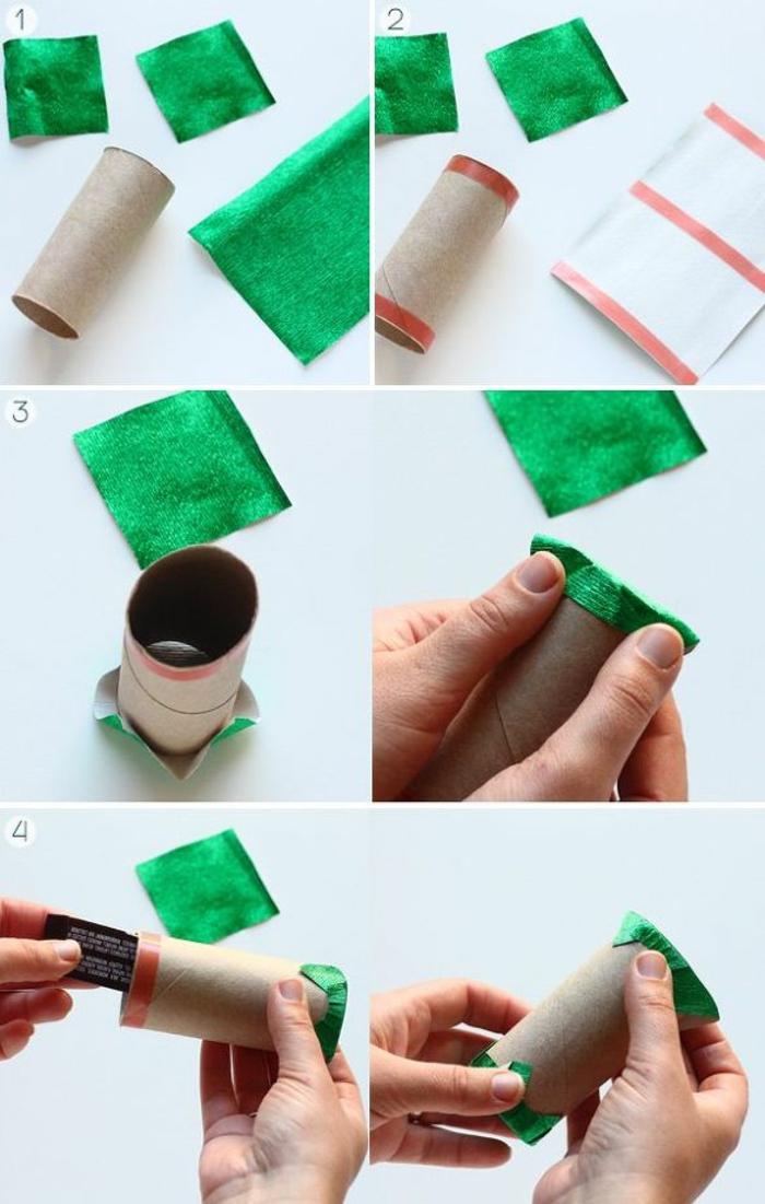 fabriquer calendrier de l'avent, déco de Noel handcraft, calendrier de l'avent en rouleaux en papier