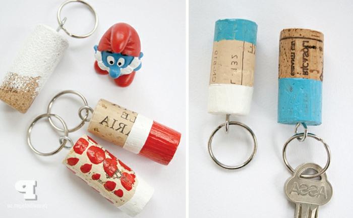 Porte clé bouchon de liège diy coloré acheter des bouchons en liege cadre bouchon liege pour décorer
