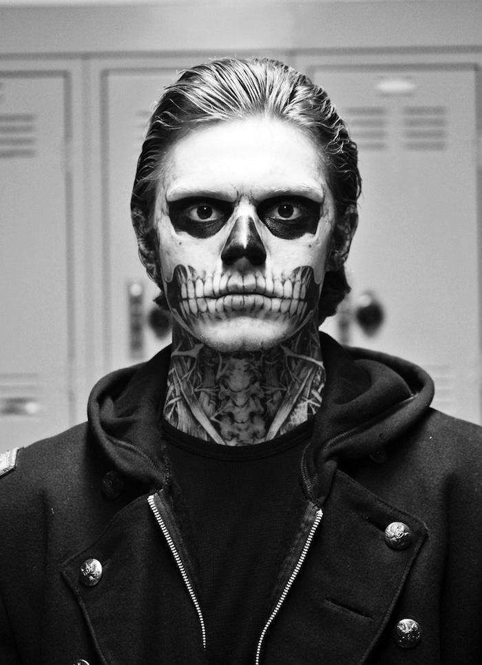 Maquillage zombie tete de mort calavera homme halloween