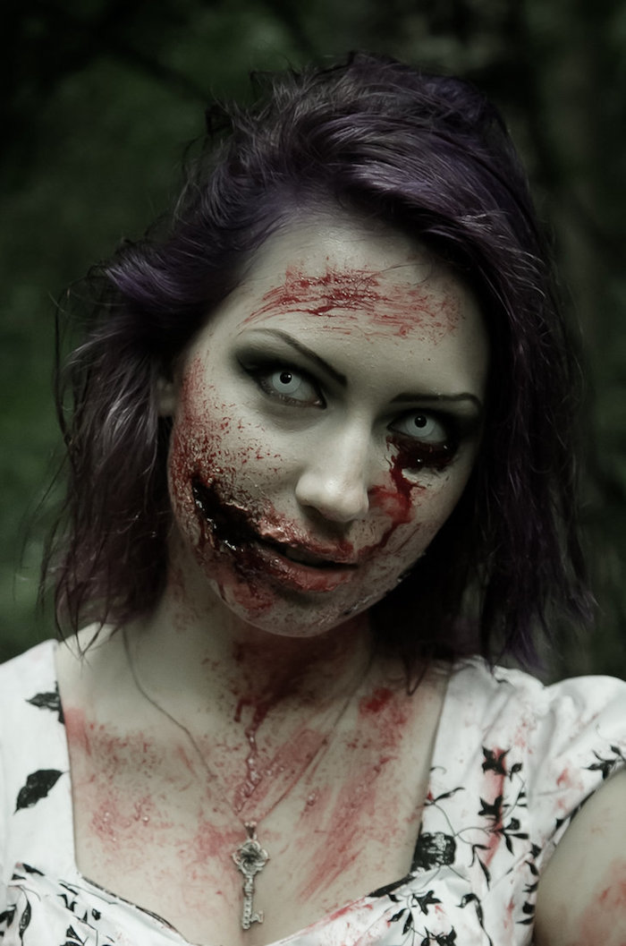 maquillage zombie une vraie t te de mort vivant obsigen. Black Bedroom Furniture Sets. Home Design Ideas