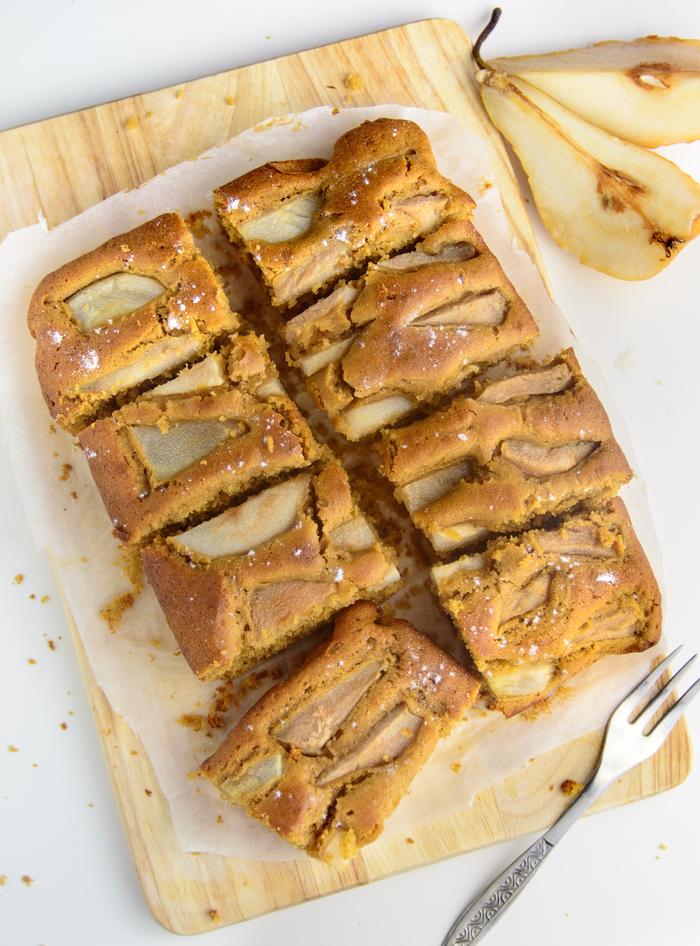 idée pour un menu d automne raffiné avec un gâteau aux poires au goût classique