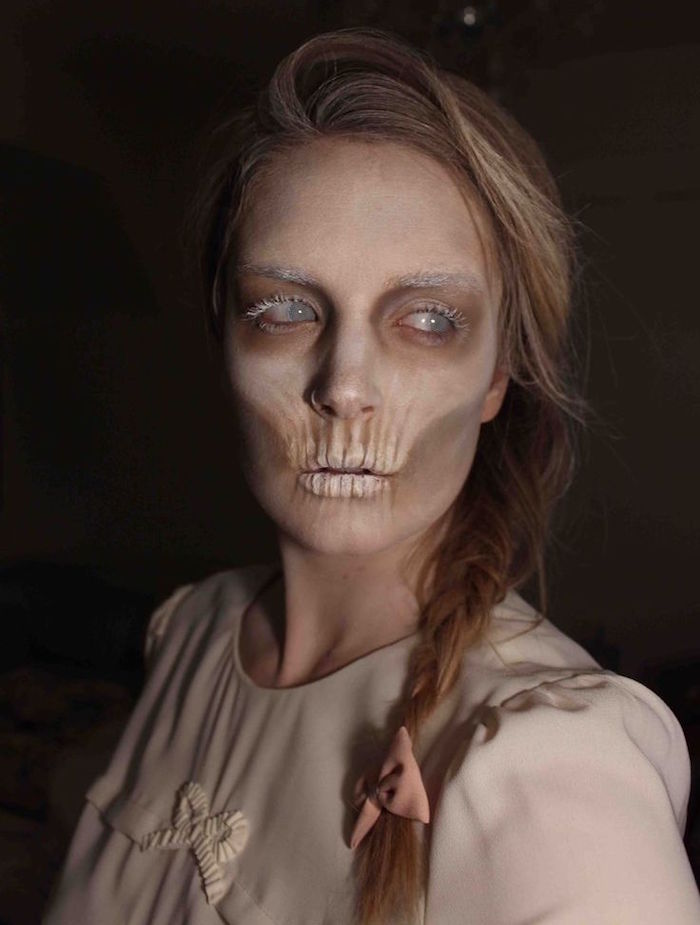 Maquillage halloween facile a faire - Maquillage zombie femme facile ...