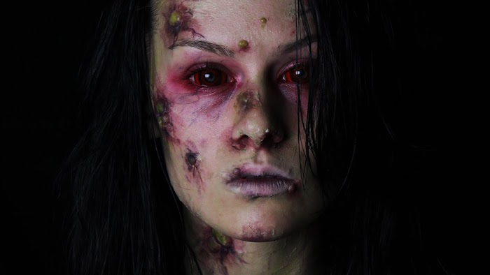 maquillage halloween déguisement mariée zombie