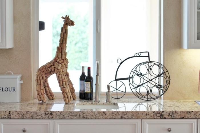 Belle idée déco créer des figures de bouchons de liège girafe de liège décoration de maison