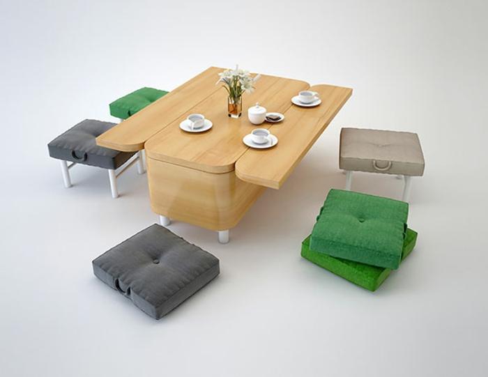 chambre de 9m2 canapé convertible meuble modulaire multifonctions amenagement petite chambre