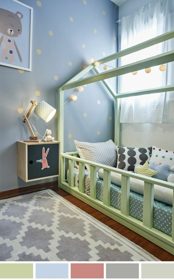 emejing chambre bebe vert canard ideas. Black Bedroom Furniture Sets. Home Design Ideas