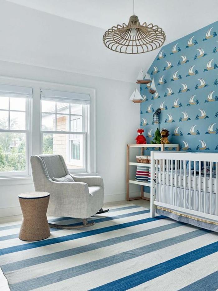 1001 id es pour une chambre b b en bleu canard des solutions d co astucieuses. Black Bedroom Furniture Sets. Home Design Ideas