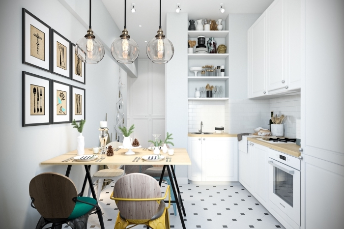 la d co cuisine scandinave en plus de 116 variantes. Black Bedroom Furniture Sets. Home Design Ideas