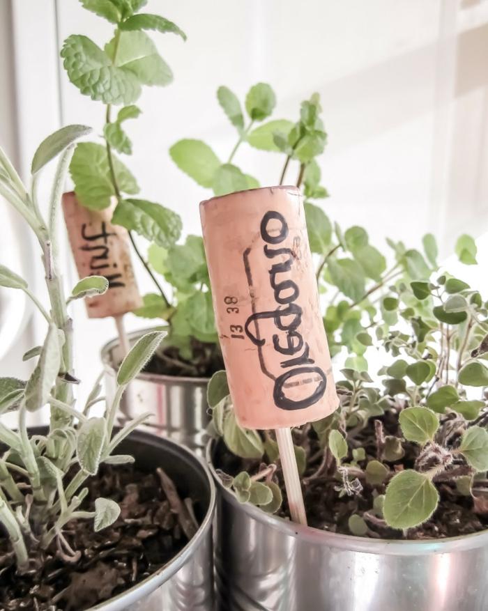 La déco récupération bouchons liège recup bouchon liege signer les plantes savoir connaitre les plants verts chambre déco