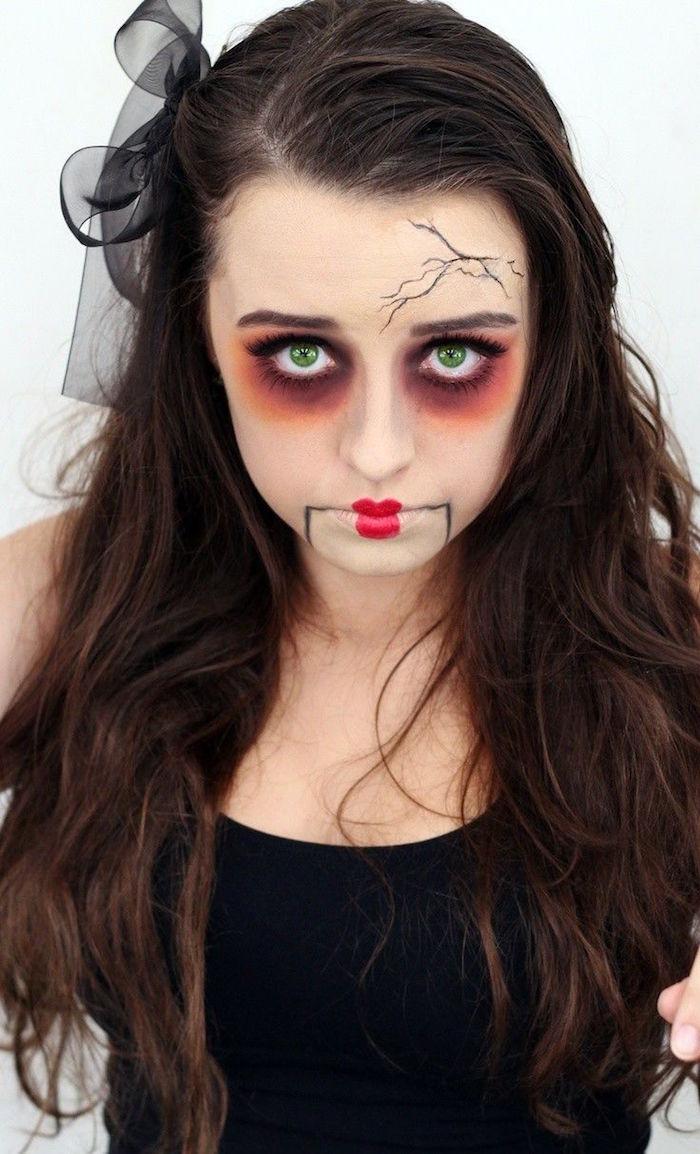 maquillage zombie halloween deguisement mort vivant femme
