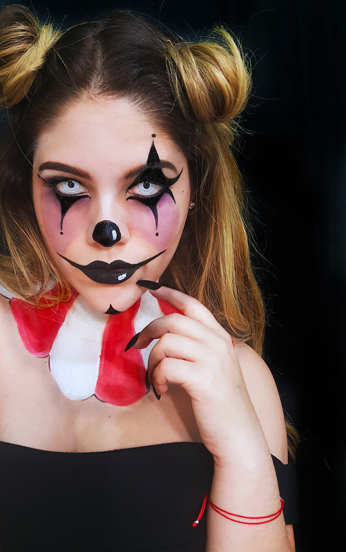 photo deguisement femme clown halloween
