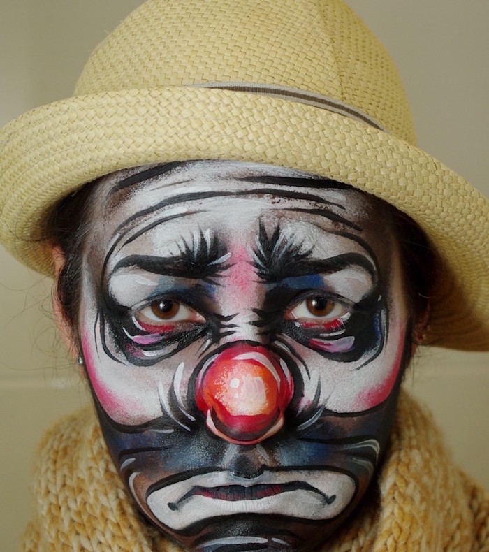 1001 Idees Maquillage Clown Nez Rouge Humour Noir