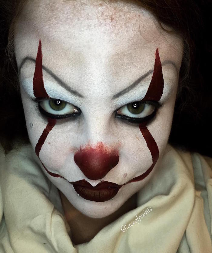 Maquillage clown \u2013 nez rouge,