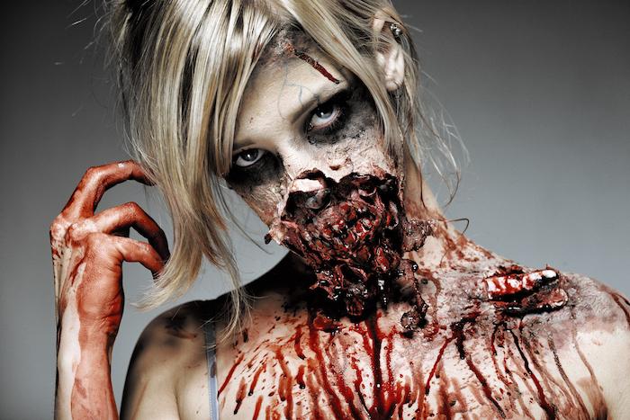 effet sspeciaux zombie walking dead maquillage