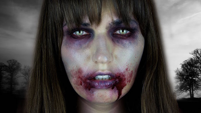 maquillage zombie simple femme wake up