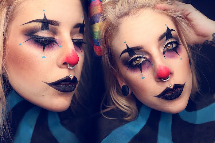 maquillage fille de cloan pour halloween