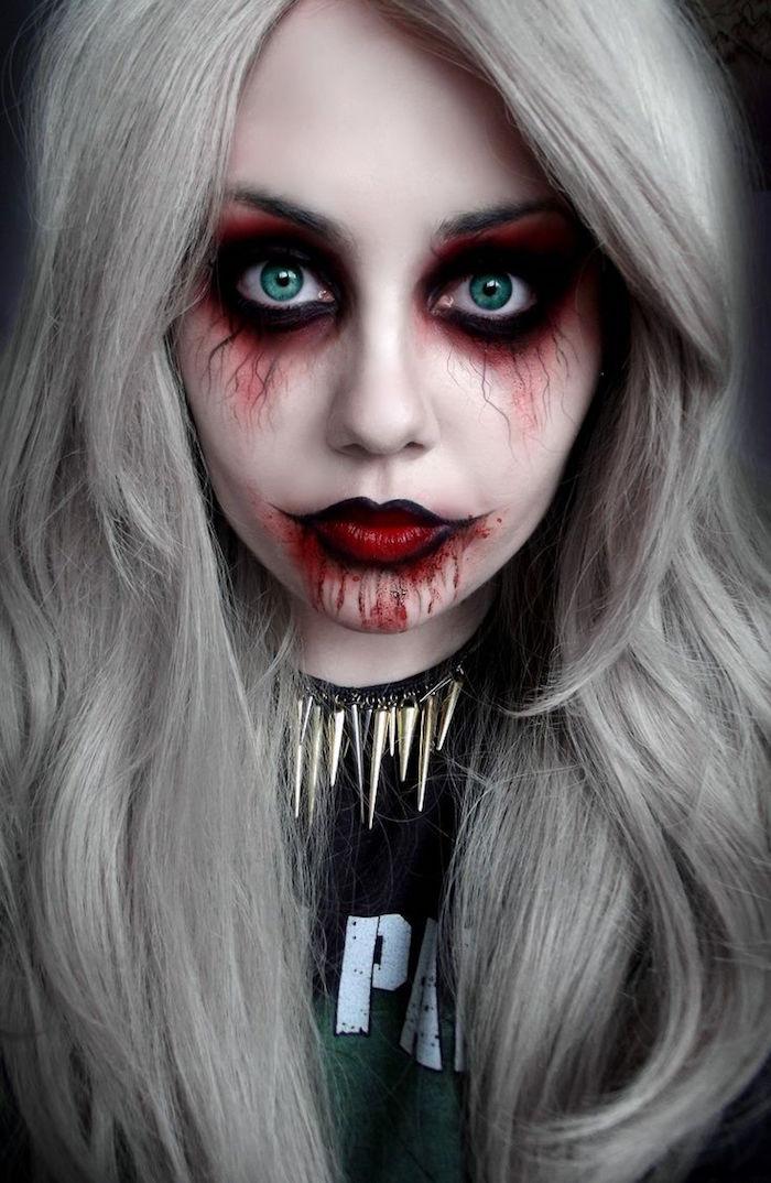 costume zombie tuto maquillage zombie femme