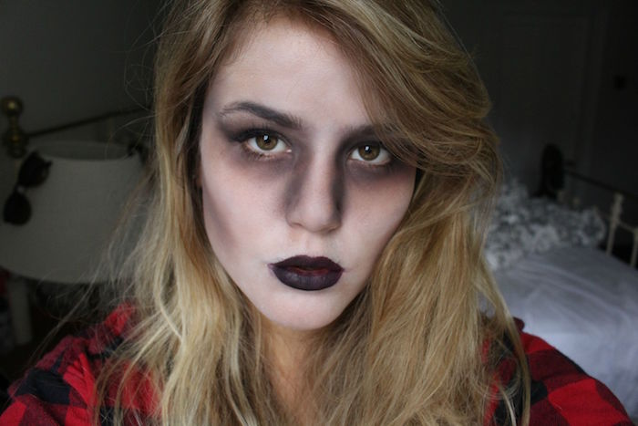 make up femme costume de zombie deguisement