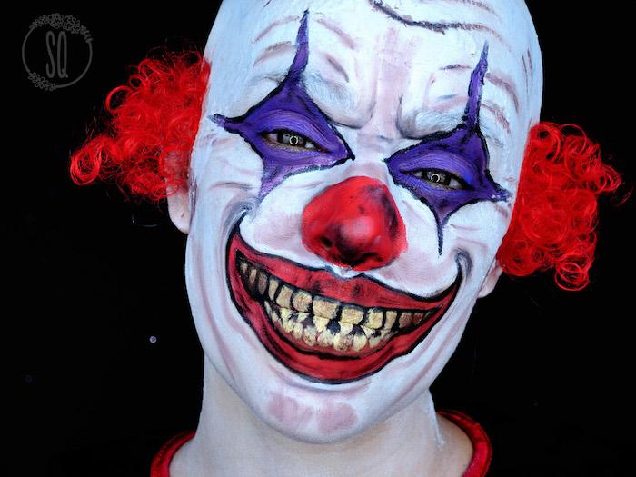 tete clown mechant style ça horreur