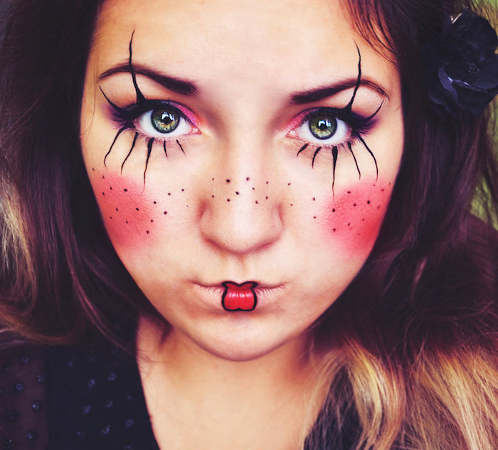 modele maquillage clown fille simple