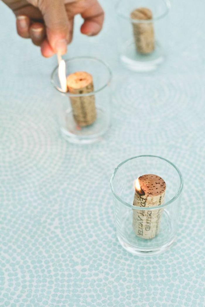Que faire avec des bouchons en liège bouchon de vin cool bougies déco