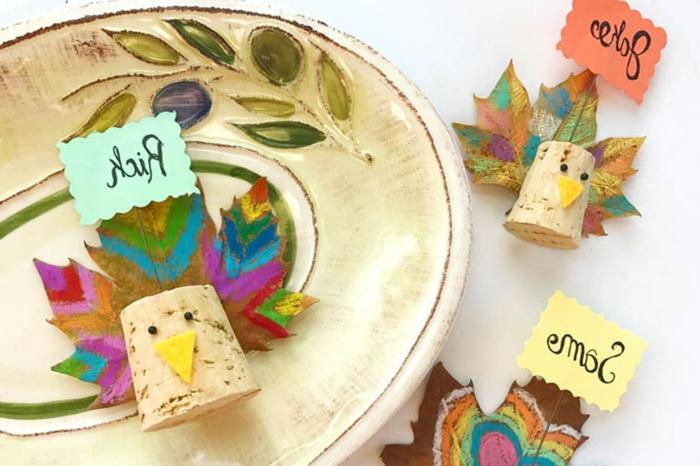 Décoration bouchon liège belle chambre decoration avec liège déco de table festive Thanksgiving
