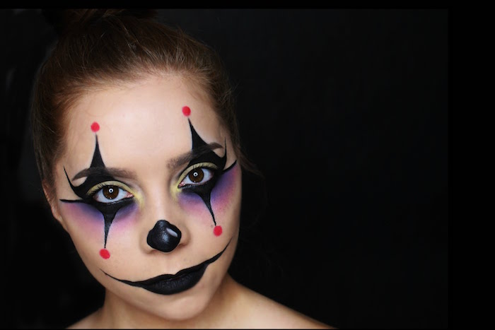 maquillage de clown facile yeux style joker