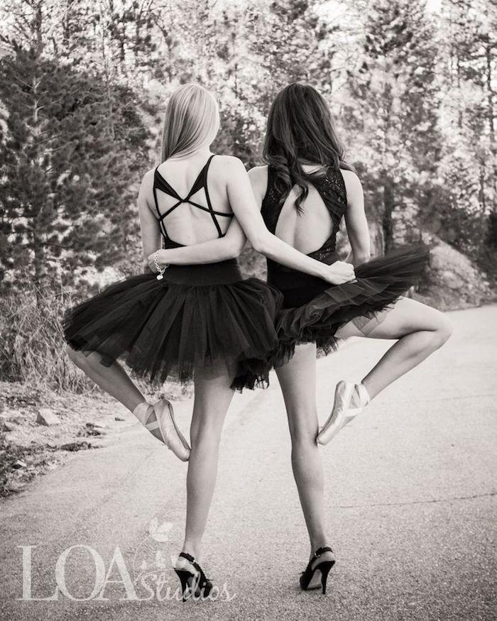 photo swag meilleure amie danseuse sepia